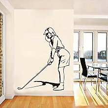 Kinderzimmer Dekorationfrau Golf Spielen Sport