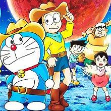 Kinderzimmer Doraemon Cartoon Tapete Wandtafel