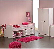 Kinderzimmer Elisa 2 2-teilig weiß Bett +