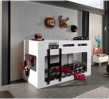 Kinderzimmer Etagenbett in Weiß und Schwarz