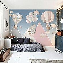 Kinderzimmer geometrische Elefant Cartoon Tapete