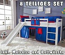 Kinderzimmer Hochbett Spielbett Etagenbett Buche