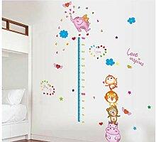 Kinderzimmer höhe aufkleber cartoon fliegenden