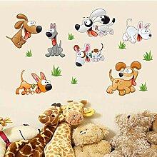 Kinderzimmer Hund Hund Kleiderschrank Aufkleber