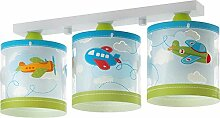 Kinderzimmer-Lampe Flieger Decken-Lampe 61203 mit LED 3 Stufen dimmbar 806 Lumen Flugzeug Doppeldecker bunt Mädchen & Jungen