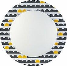 Kinderzimmer-Lampe halbkreis Wand-Decken-Lampe 70656 mit LED RGB-WW 420 Lumen schwarz Mädchen & Jungen