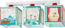Kinderzimmer-Lampe Pinocio Decken-Lampe 64473 mit LED kaltweiß 1400lm Pinocchio bunt Mädchen & Jungen