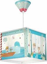 Kinderzimmer-Lampe Pinocio Hänge-Lampe 64472 mit LED neutralweiß 840lm Pinocchio bunt Mädchen & Jungen