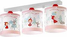 Kinderzimmer-Lampe Rotkäpchen Decken-Lampe 61903 mit LED kaltweiß 1400lm Wolf Wald bunt Mädchen & Jungen