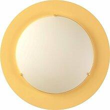 Kinderzimmer-Lampe Rund Wand-Decken-Lampe 41006O mit LED kaltweiß 880lm Gelb Mädchen & Jungen