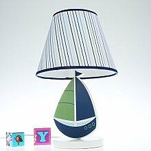 Kinderzimmer Lampe Schlafzimmer Mit Lampe Prinzessin Mädchen Kreativ - Schönes, Warmes Licht Blau Mit Holz,,Dimmer Wechseln
