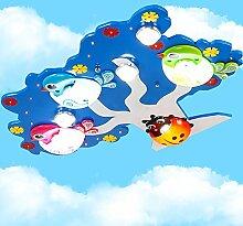 Kinderzimmer LED Deckenleuchte süße Junge Mädchen Schlafzimmer Cartoon Licht kreativ Kindergarten Spielplatz Fixture 75 * 55 * 10 cm, blau