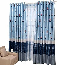 Kinderzimmer Nettes blaues Fenster-Vorhang- / Drapierung ein Panel 2 * 2 Meter