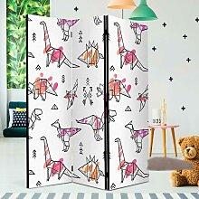 Kinderzimmer Paravant mit Dinosaurier Motiv 3 oder
