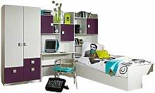 Kinderzimmer Pascal 4-tlg Kleiderschrank +