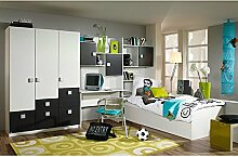Kinderzimmer Pascal 4-tlg weiß brombeer