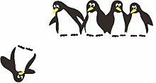 Kinderzimmer Pinguin Kühlschrank Aufkleber