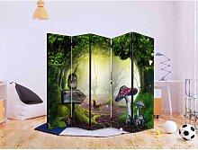 Kinderzimmer Raumteiler mit Waldtieren 5 teilig