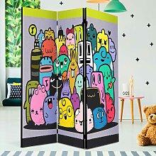 Kinderzimmer Stellwand mit Comic Motiv Bunt