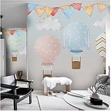 Kinderzimmer Tapete 3D Heißluftballon Fototapete