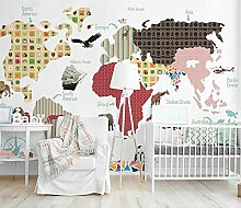 Kinderzimmer Tapete Cartoon Weltkarte Fototapete