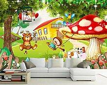 Kinderzimmer Tapete für Wände 3 d Pilz Haus