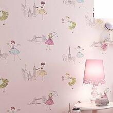 Kinderzimmer Tapete/Mädchen im Schlafzimmer