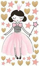 Kinderzimmer Tapete Prinzessin Mädchen