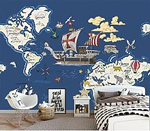 Kinderzimmer Tapeten Aufkleber Cartoon Weltkarte