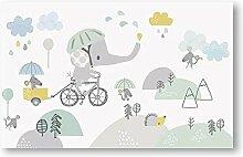 Kinderzimmer Tapeten Cartoon Elefant Fototapete