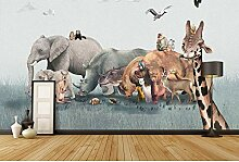 Kinderzimmer Tapeten Sticker Cartoon Tiere