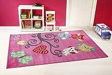 Kinderzimmer Teppich Taracarpet Eulen Rosa Lila