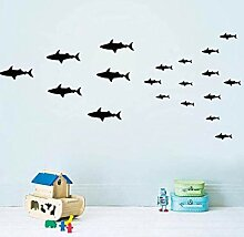 Kinderzimmer wand vinyl shark cartoon aufkleber