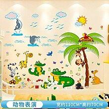 Kinderzimmer Wandaufkleber Cartoon Tieraufkleber