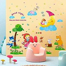 Kinderzimmer Wandaufkleber Dekoration Cartoon