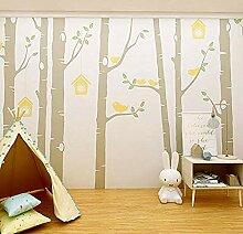 Kinderzimmer Wandbild niedlich Cartoon Tapete Holz