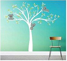 Kinderzimmer Wandtattoo,Koala-Baum-Wandabziehbild/