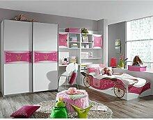 Kinderzimmer Zoe 4-tlg weiß pink Jugendzimmer