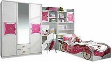 Kinderzimmer Zoe3 4-TLG Kleiderschrank