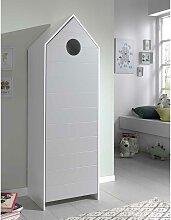 Kinderzimmerschrank in Grau und Weiß Haus
