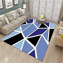 kinderzimmerteppich junge Der blaue geometrische