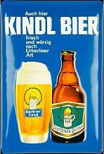 Kindl Bier Blechschild, 20 x 30 cm