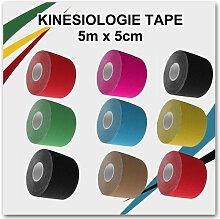 Kinesiologie Tape D5 5 Rollen Neu OVP Taping Schmerzen günstig Baumwolle Taps