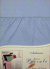 King Bett Polycotton Valance Spannbettlaken hellblau–Perkal unifarben Luxuriöser Betten