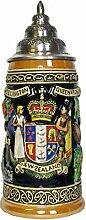 KING Bierkrug Neuseeland Seidel 0,5 Liter