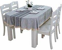 King Boutiques Haushalt Tischdecke Baumwolle Und