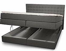 King Boxspringbett 160x200 cm mit Bettkasten und