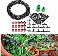 KING DO WAY 10m Gartenschlauch DIY Micro Tropfen Ventil Bewässerungssystem Auto Timer Gewächshaus Gartenpflanze Bewässerung Werkzeug Cooling Kit Atomisierung Automatisch