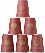 KING DO WAY 50 Stueck Pappbecher Kaiserkrone Muster Einweg Hot Kalter Kaffee Einwegbecher Partei Hochzeit Kaffeebecher Wein Rot 228 ml