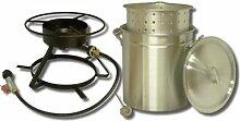 King Kooker 5012Tragbarer Propan Outdoor Kochendes und dünsten Herd Paket mit 50-quart Aluminium Topf und Dampfgaren